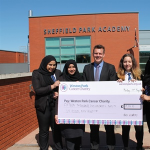Sheffield Park Academy presents Weston Park with largest ever donation received from a school!