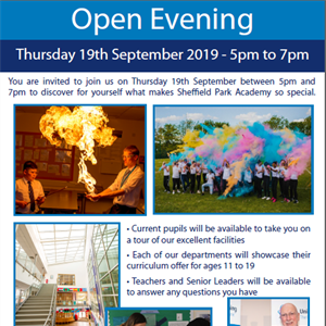 Open Evening - Thursday 19th September 2019