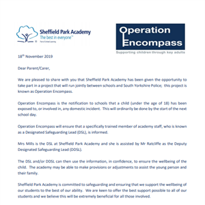 Operation Encompass project in association with South Yorkshire Police