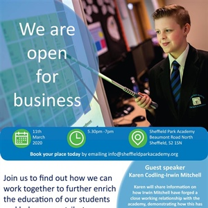 We are open for business! Networking event - Wednesday 11th March 2020 5.30pm - 7pm